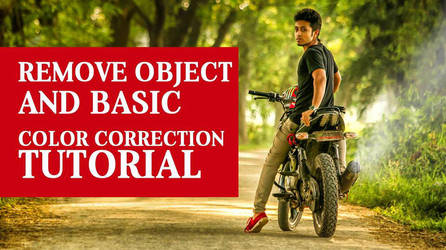 Remove object and Basic Color correction tutorial by hasshasib001