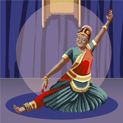 The Bharatanatyam Dancer by singingstranger