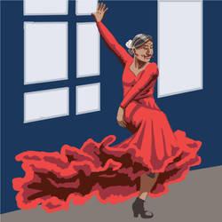 The Flamenco Dancer by singingstranger