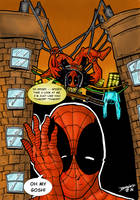 Deadpool and Spider-Man by BouncieD