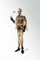 Batmans NEW Sidekick Robin ... Alfred by BouncieD