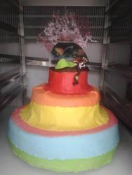 Rainbow Wedding cake by Hidek93