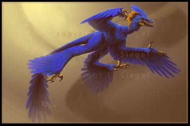 Blue Microraptor by FablePaint