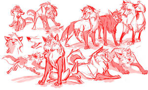 Swifty Red Doodles by FablePaint