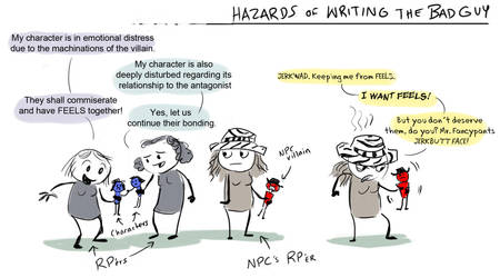 Hazards of Writing the Bad Guy by FablePaint