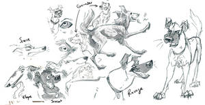 Ravage dog sketches by FablePaint