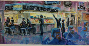 plein air Grand Central Market 2 by FablePaint