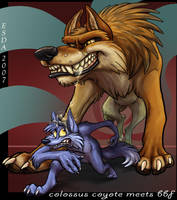 Colossus Coyote meets BBF by FablePaint
