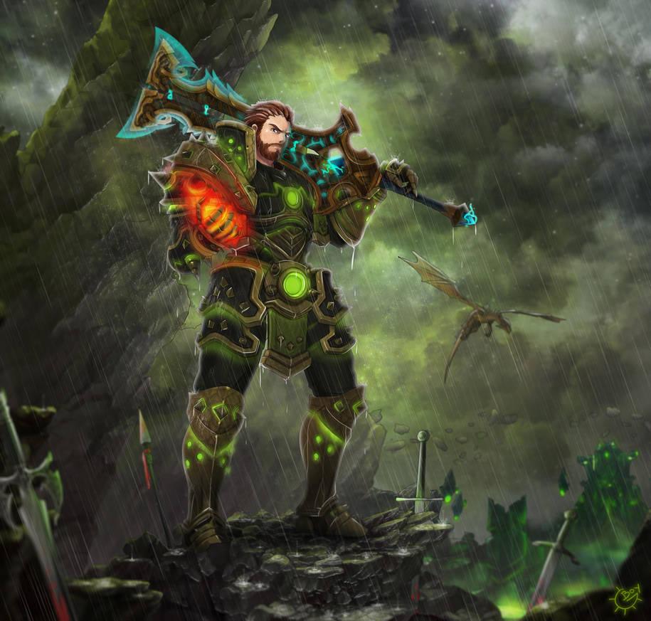 WoW Warrior by Gear-Boy