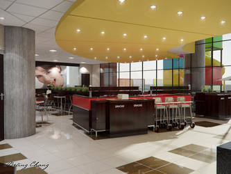 McDonald's lobby view by meling-3d