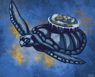 Extraterrestrial Ecosystem + Cargo Turtle by ailaik