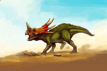 Styracosaurus by Bubaben