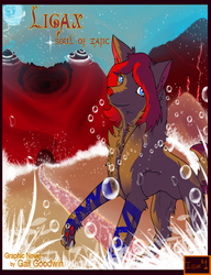 Ligax soul of zajic cover page by glitchyfoxes