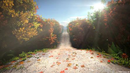 Autumn Road by MjP-70