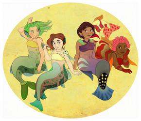 Mermaids by lemonflower