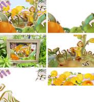 Pumpkins Diorama by lemonflower