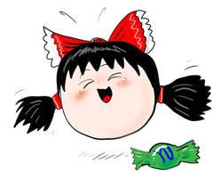 Yukkuri Reimu (Happiness) by ThatArtistFeller