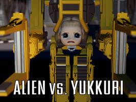 Alien vs. Yukkuri by ThatArtistFeller