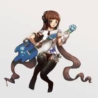 Guitar girl by food211
