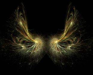 Fractal wings 2 by Kittyd-Stock