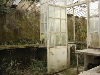 Abandoned Greenhouse by Kittyd-Stock