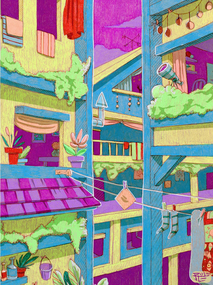 Acid Village by coconutmoose