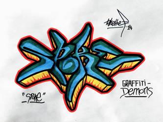 SPOKE (Graffiti-Demons) by takethef