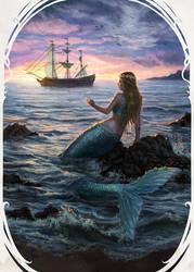 Lil' mermaid by anotherwanderer