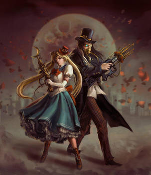 Steampunk Sailormoon by anotherwanderer