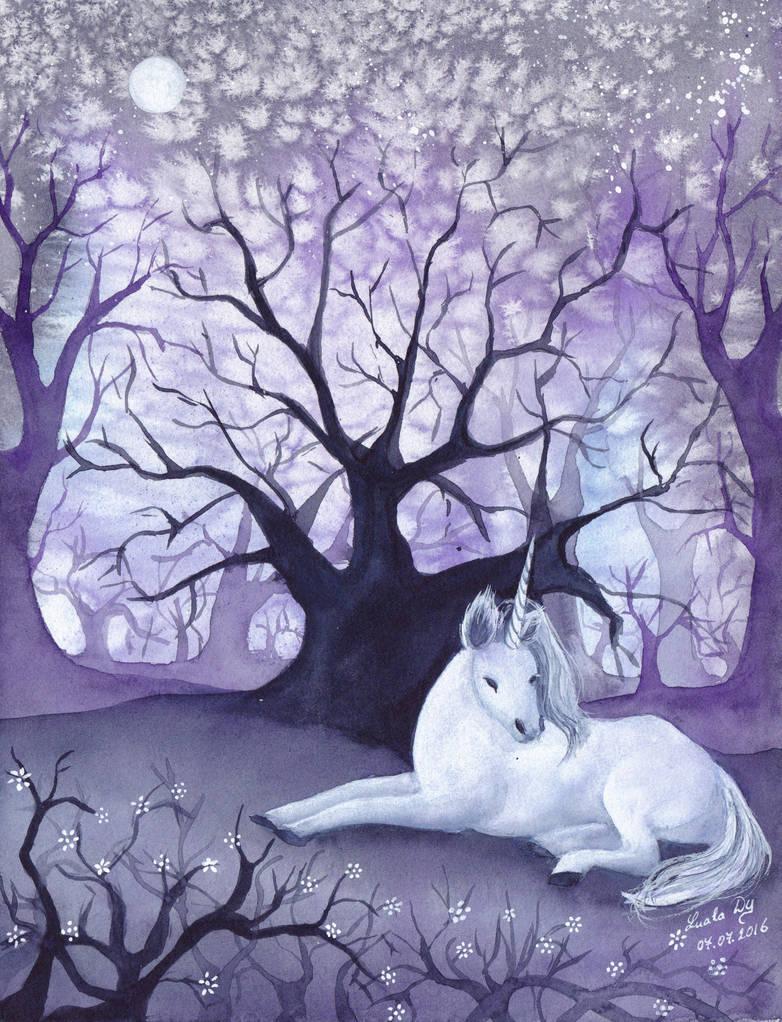 Lonely Unicorn by LualaDy