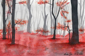 Inktober 07 Blood Grove by LualaDy