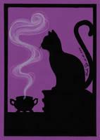 Inktober 26 Black Cat by LualaDy
