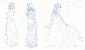 Drapes - sketches by LualaDy