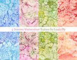 4 Seasons Watercolour Texture Pack by LualaDy