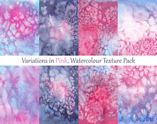 Variations in Pink, Watercolour Texture Pack by LualaDy