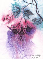 Inktober18 Day8: Fuchsia Fairy (collab) by LualaDy