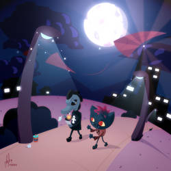 Night in the Woods - Mae and Bea by iAbokai
