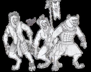A Merry Band (of Gnolls) by Dulcheist