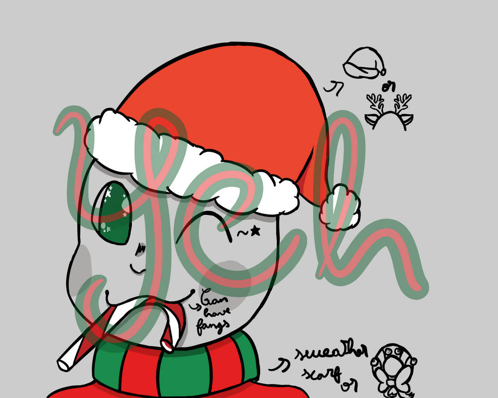 Christmas ych by AoNogitsune