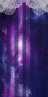 Custom Box BG: Galaxy Lace by KonekoKunoichi