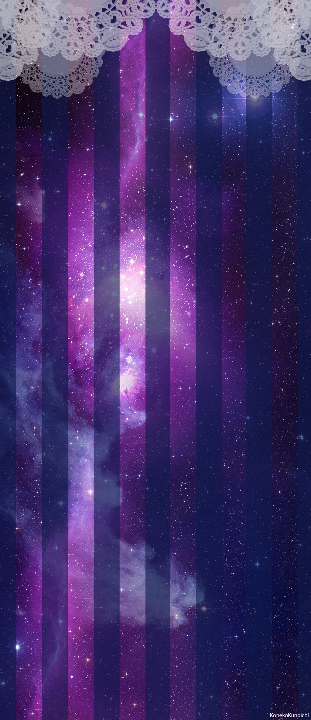Custom Box BG: Galaxy Lace by KonekoKunoichi