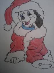 Christmas dog by b0ji123