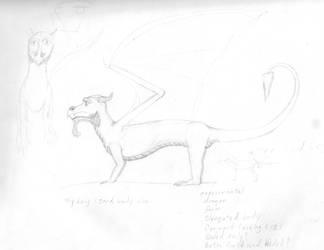 Dragon Sketch by CherokeeGal1975