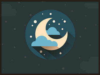 Moon flat icon. by Lukeskywalkers