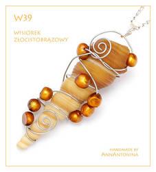 Golden Brown Pendant - W39 by AnnAntonina