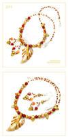 Autumnal Leaf - set Z317 by AnnAntonina