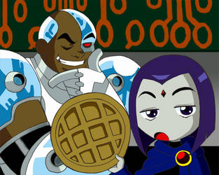 Raven You Like Waffles by The-Raven-Club