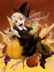 APH Thanksgiving Fan Art by EvilApple513