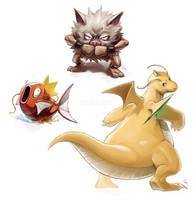Pokemon Doodles [1] by EvilApple513
