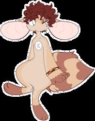 Skeenk adopt - Red panda child by Bearcap